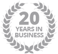 20 years experience in the industry